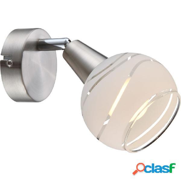 GLOBO Faretto a LED ELLIOTT in Nichel Opaco 54341-1