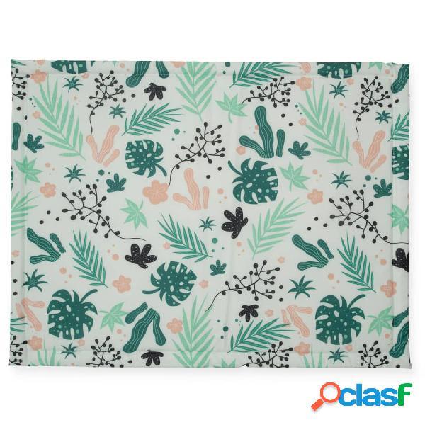 Jollein Tappetino per Box Foglie 75x95 cm Verde