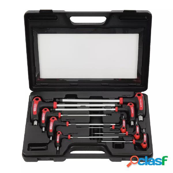 KS Tools Ergo Chiave a brugola con maniglia aT, 9 pezzi, 2 -