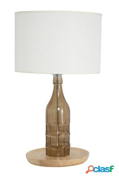 Lampada da tavolo a Forma di Bottiglia in Vetro con Cappello