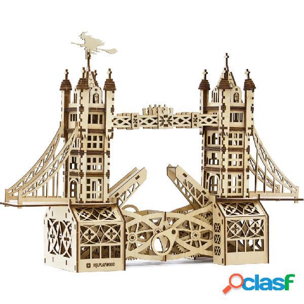 Mr. PlayWood Kit per Modellino in Legno Tower Bridge 312 pz