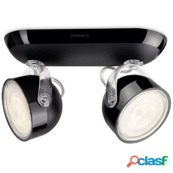 Philips Faretto LED myLiving Dyna 2x3 W Nero 532323016