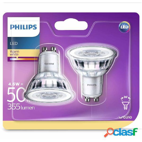 Philips Lampadine LED Faretto 2 pz Classic 4,6W 355 Lumen