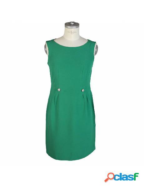 Vestito Vintage Sartoriale Anni 80 Verde Smeraldo Corto