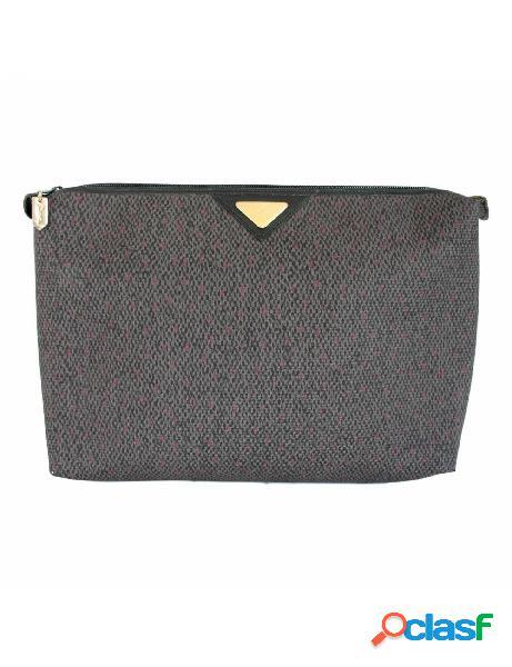 Yves Saint Laurent Borsa Vintage Pochette Da Sera Pelle Blu