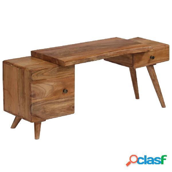 Vidaxl armadietto laterale in legno massello 🥇   Posot Class