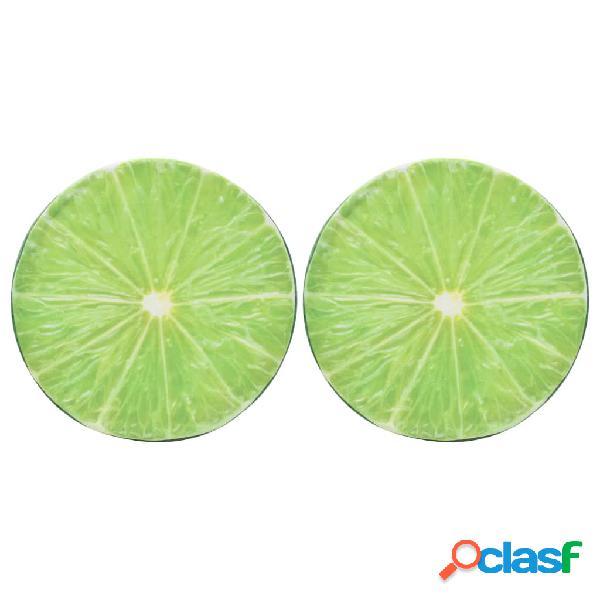 vidaXL Cuscini 2 pz con Stampe di Frutti Lime