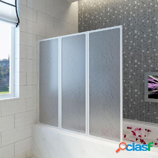 vidaXL Doccia da bagno a parete 117 x 120 cm 3 Pannelli