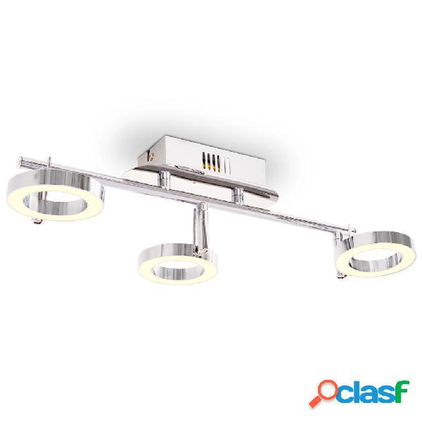 vidaXL Illuminazione LED a Parete/da Soffitto con 3 Luci