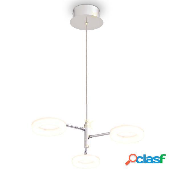 vidaXL Lampada LED a Sospensione con 3 Luci Bianco Caldo