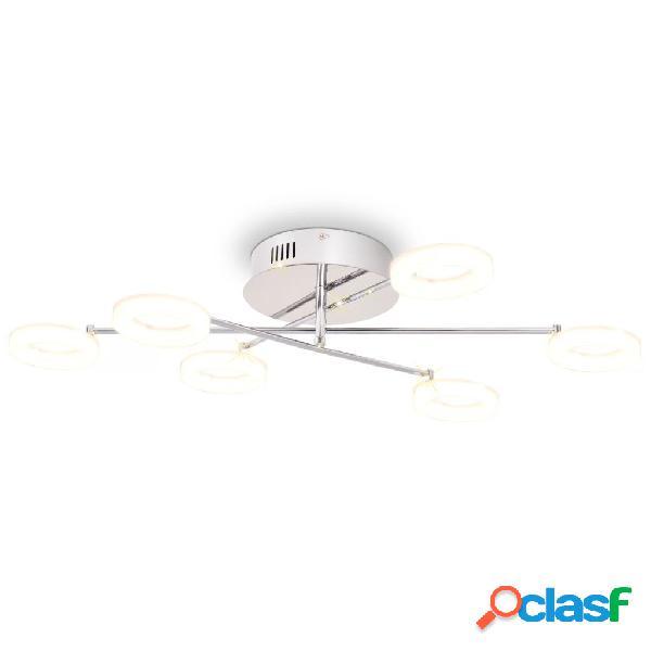 vidaXL Lampada LED da Soffitto con 6 Luci Bianco Caldo