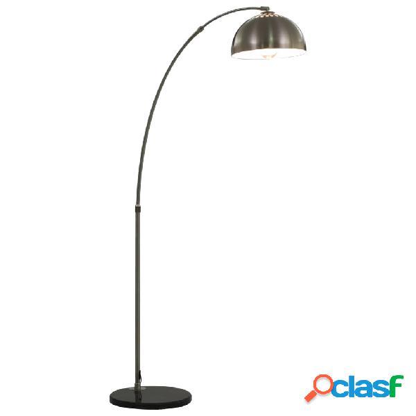 vidaXL Lampada ad Arco 60 W Argento E27 170 cm