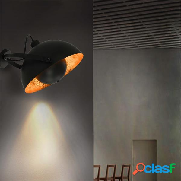 vidaXL Lampada da Parete Nera e Oro Semi-Sferica E27