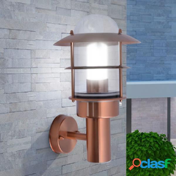 vidaXL Lampada da parete da esterno in acciaio inox color