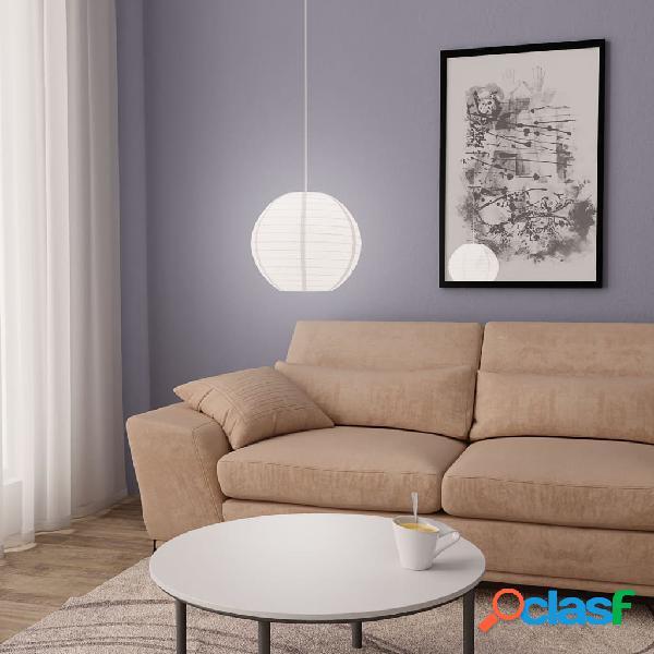 vidaXL Lampadario da Soffitto Bianco Ø30 cm E27