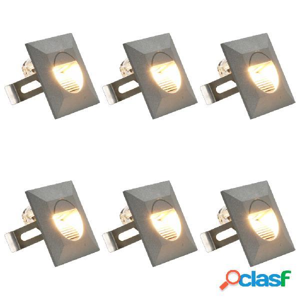 vidaXL Lampade da Parete da Esterno a LED 6 pz 5 W Argento
