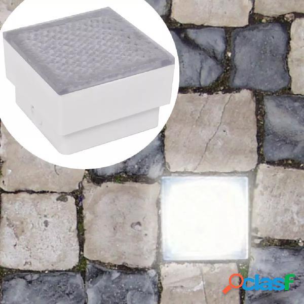 vidaXL Luci Calpestabili a LED 12 pz 100 x 100 x 68 mm