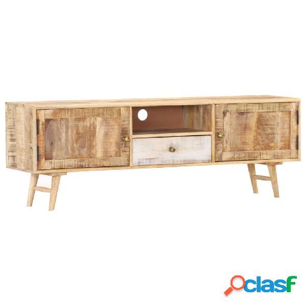 vidaXL Mobile Porta TV 140x30x45 cm in Legno Massello di