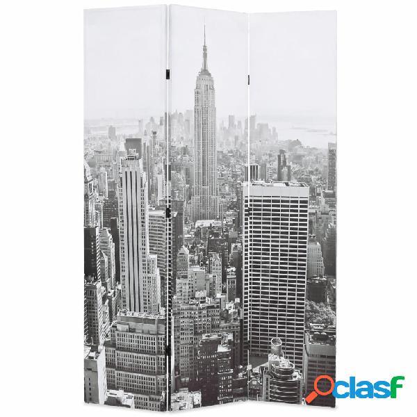 vidaXL Paravento Pieghevole 120x170 cm Stampa New York