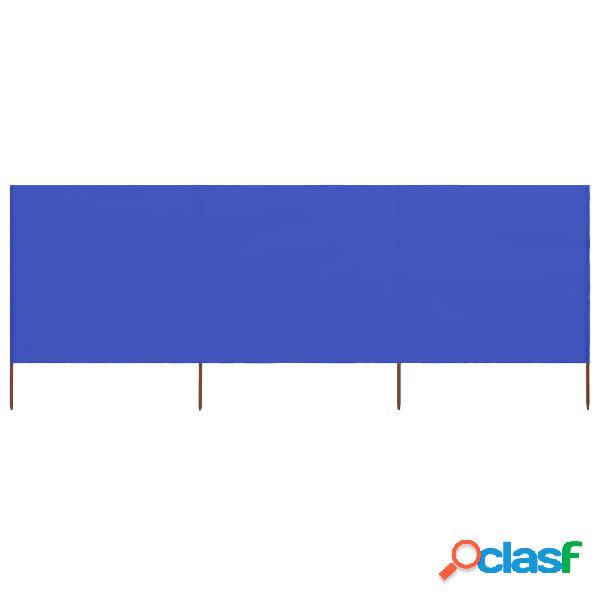 vidaXL Paravento a 3 Pannelli in Tessuto 400x160 cm Azzurro