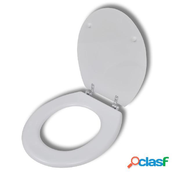 vidaXL Sedile WC in MDF Coperchio Chiusura Dura Design