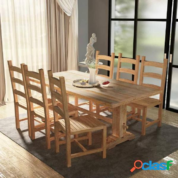 vidaXL Set 7 Pezzi Grande Tavolo e Sedie Sala da Pranzo in