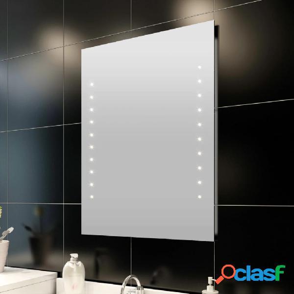 vidaXL Specchio da Bagno con Luci a LED 50 x 60 cm (L x A)