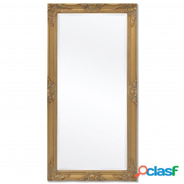 vidaXL Specchio da Parete Stile Barocco 120x60 cm Dorato