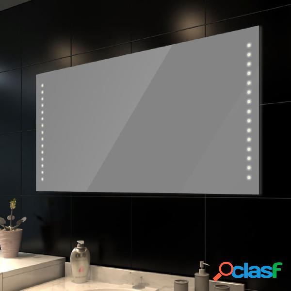 vidaXL Specchio da bagno 100 x 60 cm(L x H) con luci led