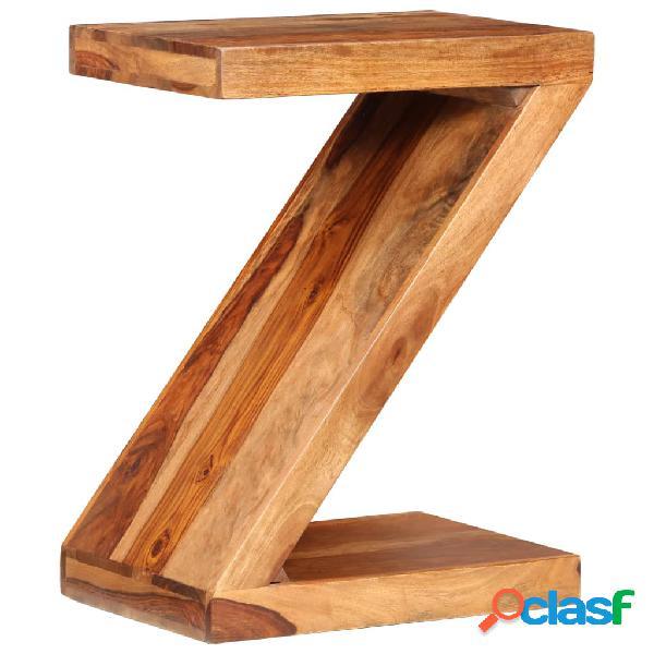 vidaXL Tavolino Laterale a Z in Legno Massello di Sheesham