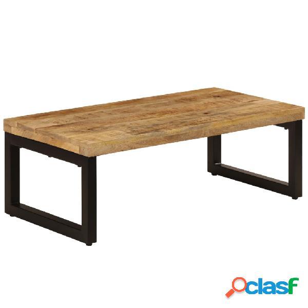 vidaXL Tavolino da Caffè 110x50x35cm Legno Massello di