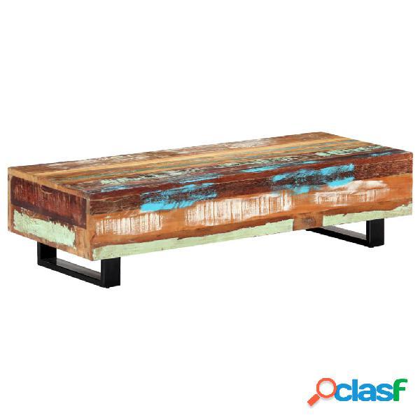 vidaXL Tavolino da Caffè 120x50x30cm Legno Massello