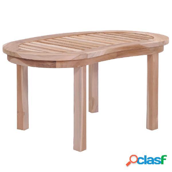 vidaXL Tavolino da Caffè in Legno Massello di Teak 90x50x45