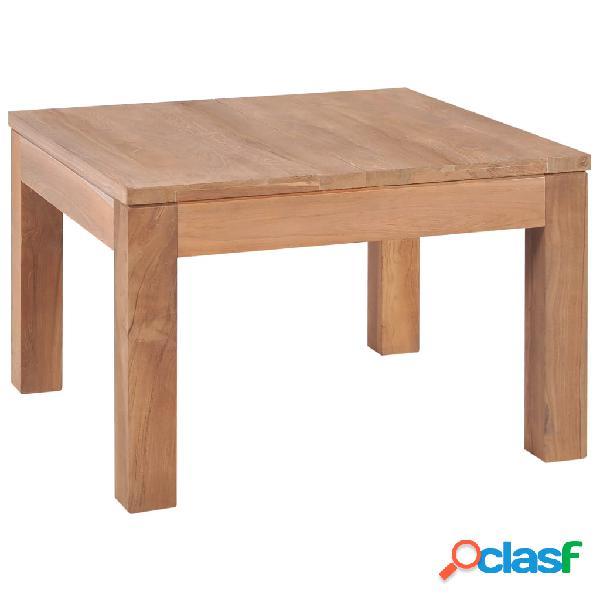 vidaXL Tavolino da Caffè in Legno Massello di Teak Naturale