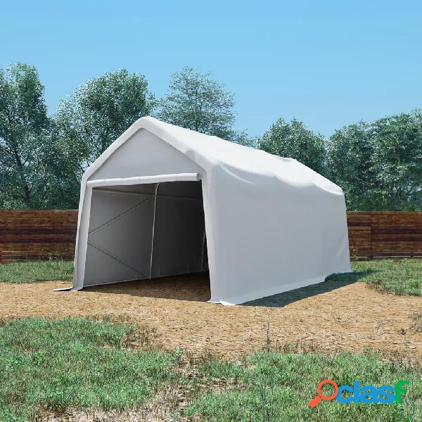 vidaXL Tenda Capannone in PVC 550 g/m² 3x6 m Bianco
