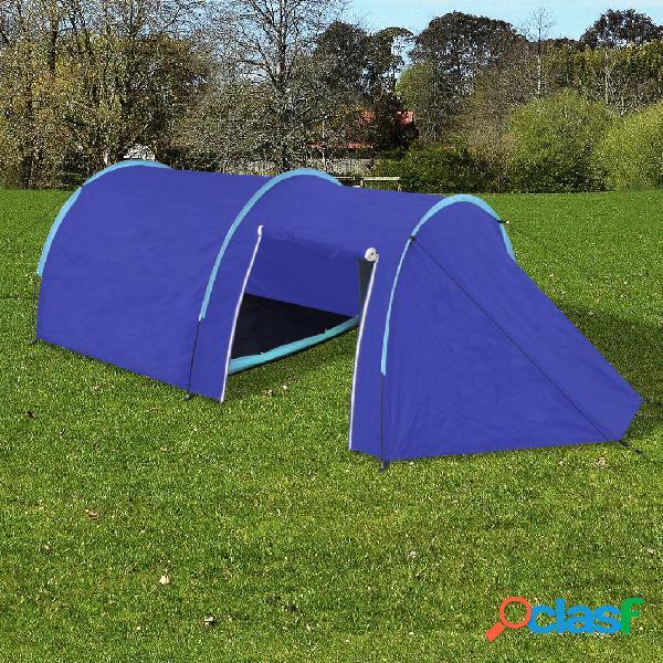 vidaXL Tenda da campeggio per 4 persone blu marino / azzurro