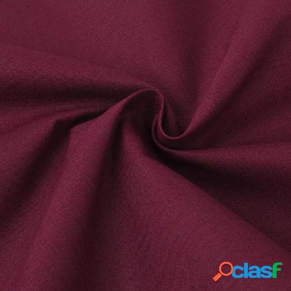 vidaXL Tessuto in Cotone 1,45 x 20 m Rosso Bordò