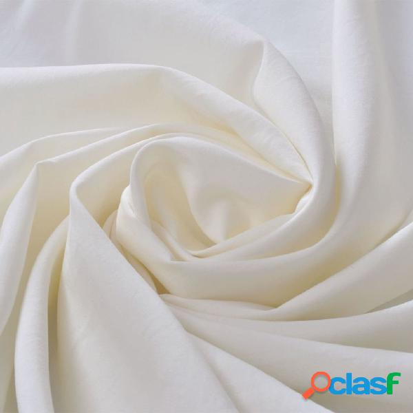 vidaXL Tessuto micro-raso 1,45 x 20 m colore crema