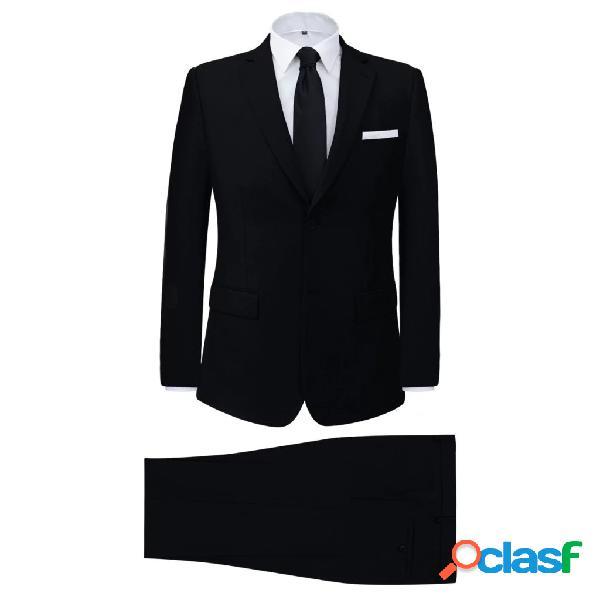 vidaXL Vestito elegante da uomo 2 pezzi nero taglia 50