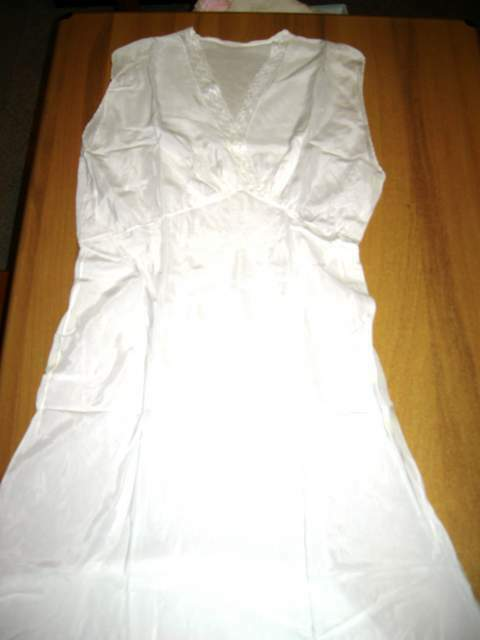 Camicia da notte bianca trasparente in viscosa taglia 44