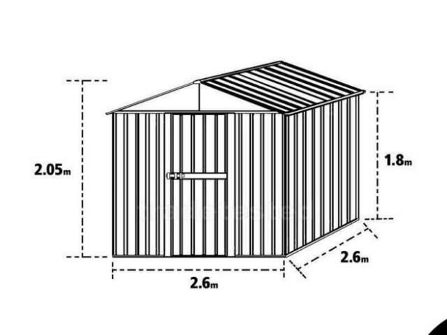 Box casetta acciaio lamiera zincata prefabbricato no