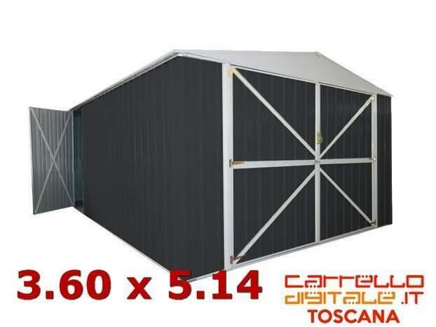 Box garage casetta cantiere container acciaio zincata auto