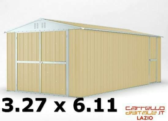 Box garage casetta cantiere n coibentato acciaio lamiera