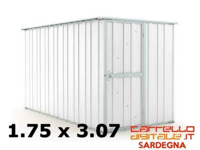 Casetta box capanno acciaio lamiera cantiere container