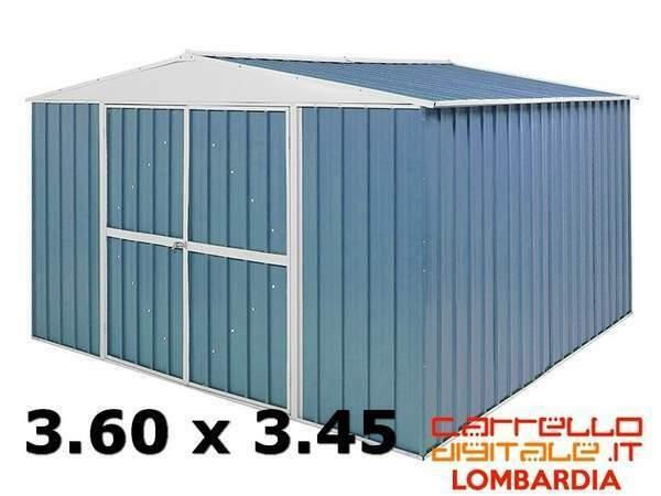 Casetta box capanno acciaio lamiera zincata container