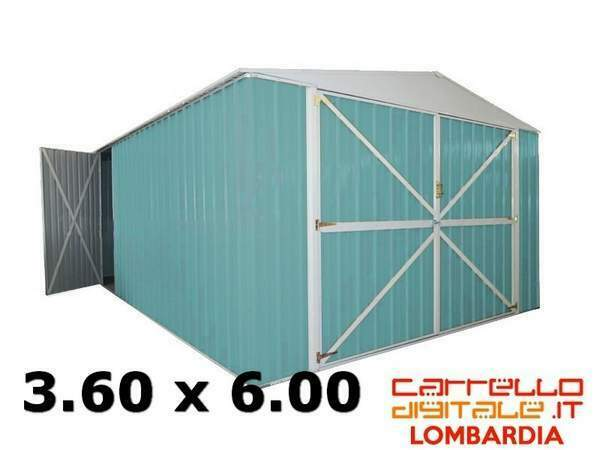 Casetta box garage acciaio zincata cantiere container auto
