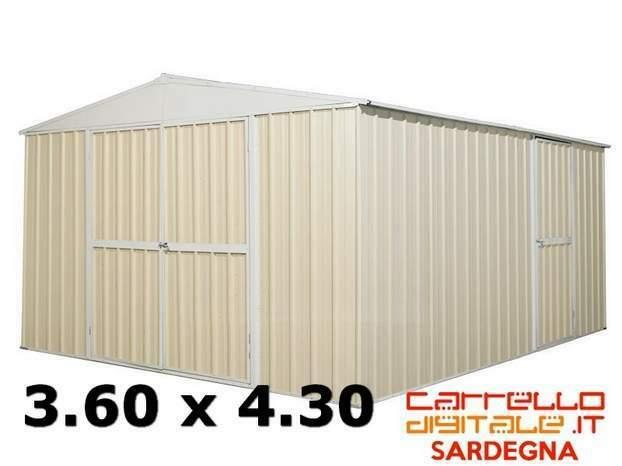 Casetta box garage capanno acciaio giardino auto lamiera