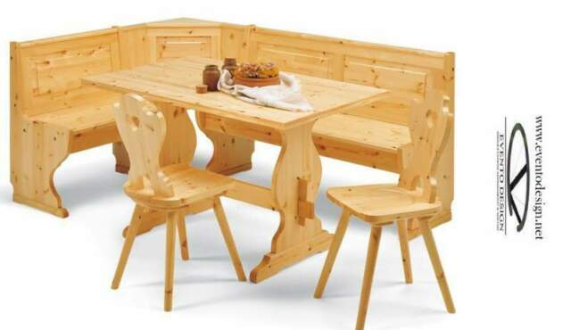 Giropanca rustico in legno di pino