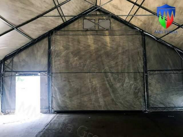 Tunnel coperture strutture in pvc a terni 28 x 10 x 5,70 mt.
