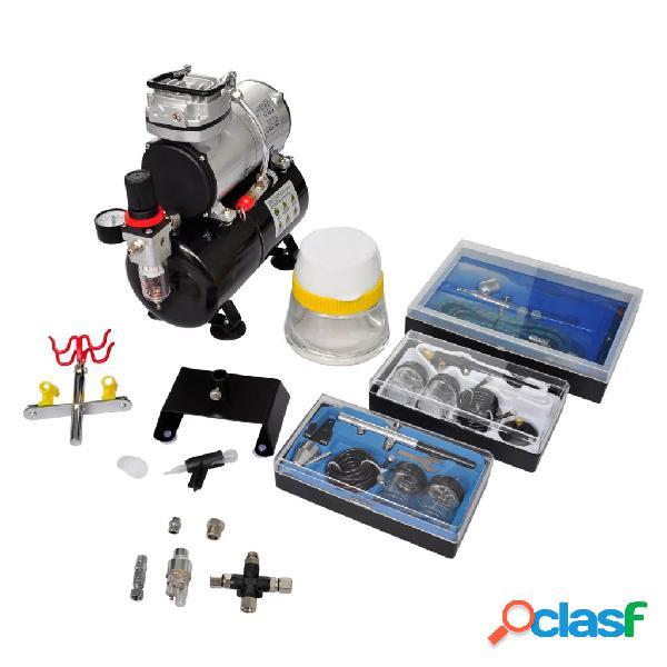 vidaXL Set Compressore Aerografo con 3 Pistole